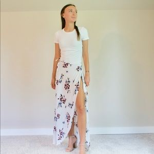 S Kendall and Kylie Wrap Around Flower Skirt